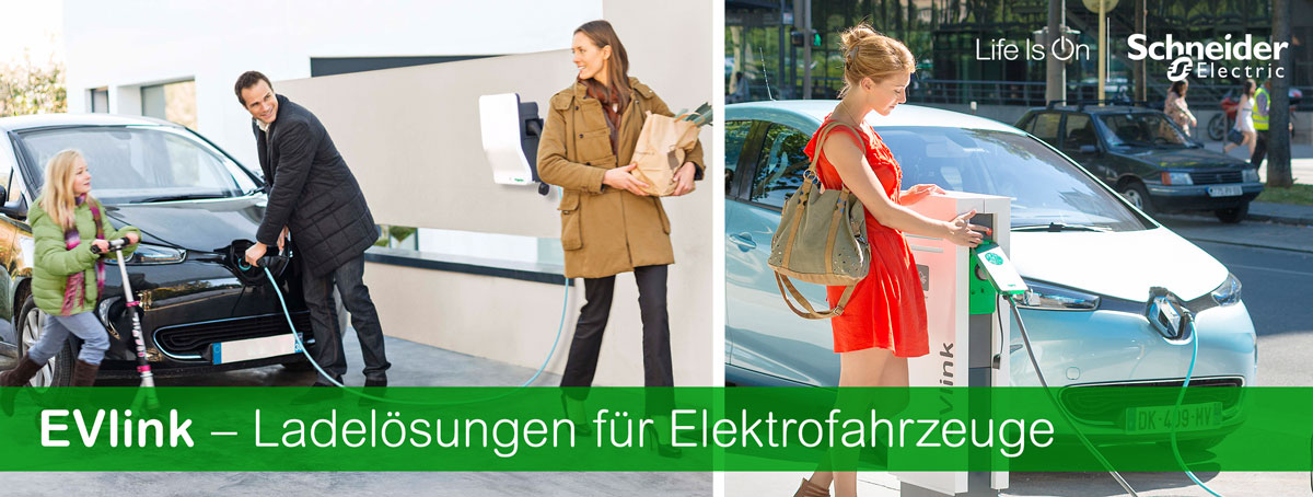 Schneider Electric EVlink - Ladelösungen für Elektrofahrzeuge